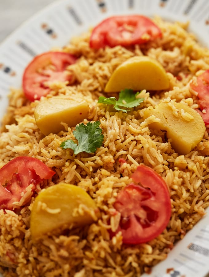 Tehari (Spiced Rice and Potatoes)