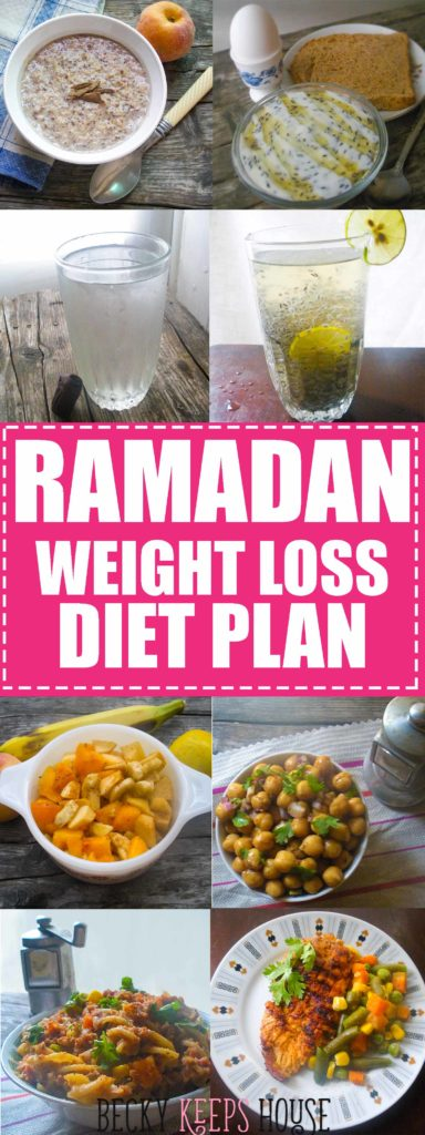 Becky Keeps House | Ramadan Weight Loss Diet Plan - This is the Ramadan Weight Loss Diet Plan that I used to help me lose an average of two pounds per week in Ramadan. Healthy eating helped me lose 17 pounds!