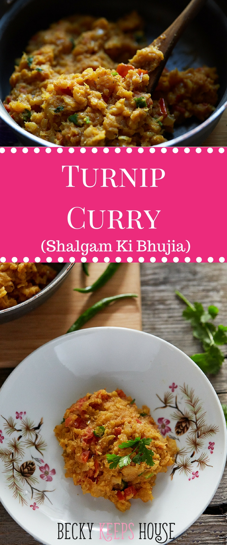 Turnip Curry (Shalgam ki Bhujia) | Becky Keeps House - This turnip curry (shaljam ki bhujia) recipe will have your family calling dibs on the leftovers! A tasty vegetarian recipe with vegan substitution.